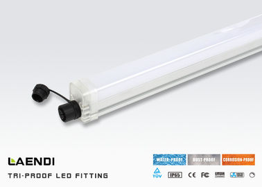 China 2ft Ip65 Tri Proof LED Light 18w , Fluro Batten Lights Workshop Surface Mounted factory